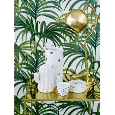 Cactus Bloomingville porcelaine blanc Mat