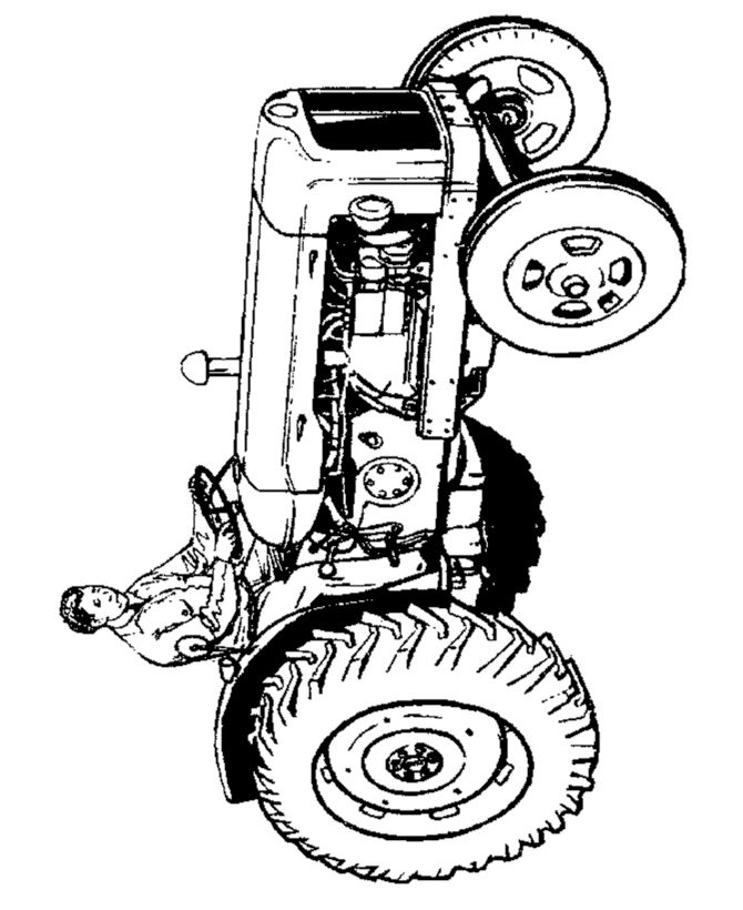 farmer on tractor coloring pages - photo#8