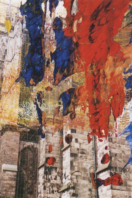 Gerhard Richter Kölner Dom Cologne Cathedral 1989 15 cm x 10 cm Öl auf Farbfotografie