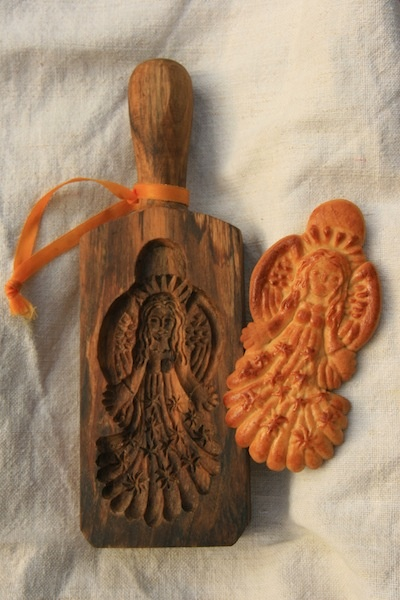 Beautiful angel cookie mould from Hungary.