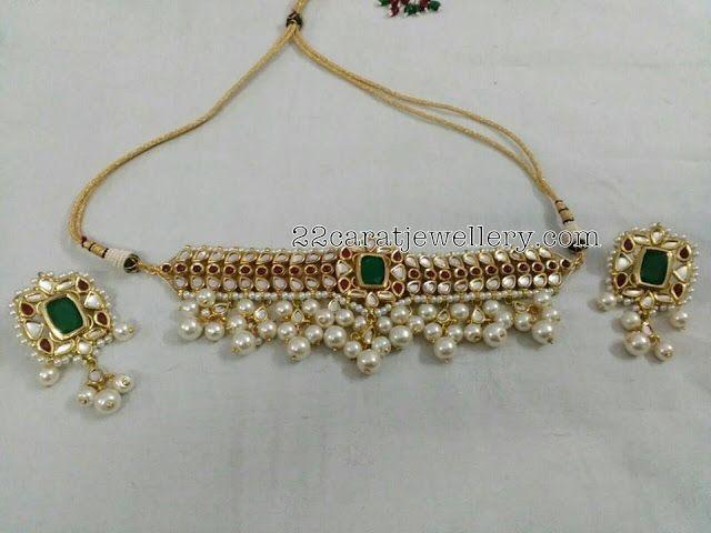 Silver Metal Kundan Jewelry