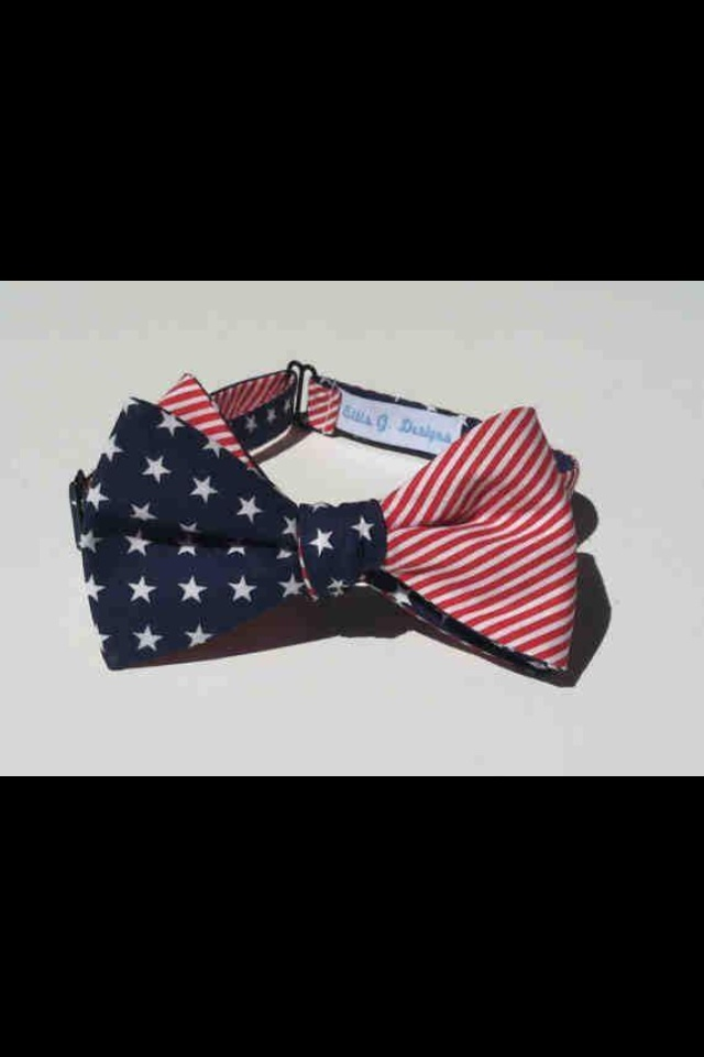 4th of July Wedding Bow Tie! Love!!!