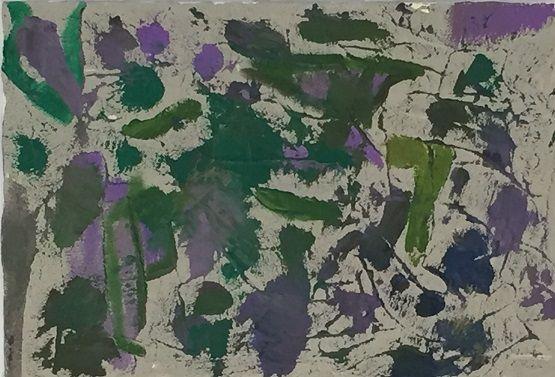 iesArt Violaverde tela con sabbia gesso e acrilico cm 35 *50, collezione dipingodigetto