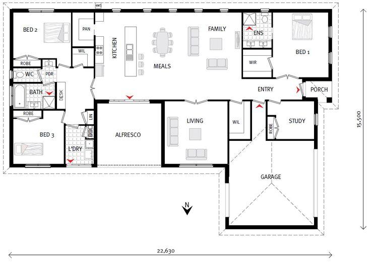 Catania 275 our designs g j gardner homes mildura for Gardner flooring