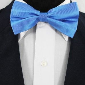 Slateblue Bow Tie Set / Wedding Bow Tie Set