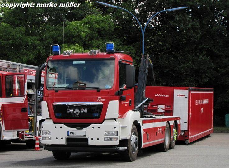 mannheim man | Wechselladerfahrzeug (WLF) MAN TGS 26.400 der Berufsfeuerwehr Mannheim ...