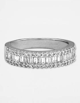 White Gold Diamond Baguette Wedding Band