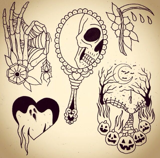 Tattoos I like the ghost in the heart one