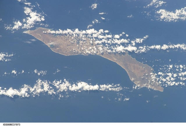 The island of Curacao by air