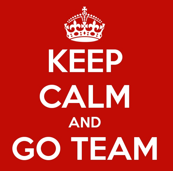 Keep Calm and Go Team. #teamwork #teams #ilikemyteam