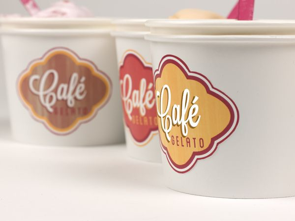 Cafe Gelato Rebrand by Sarah Rose Andrew, via Behance