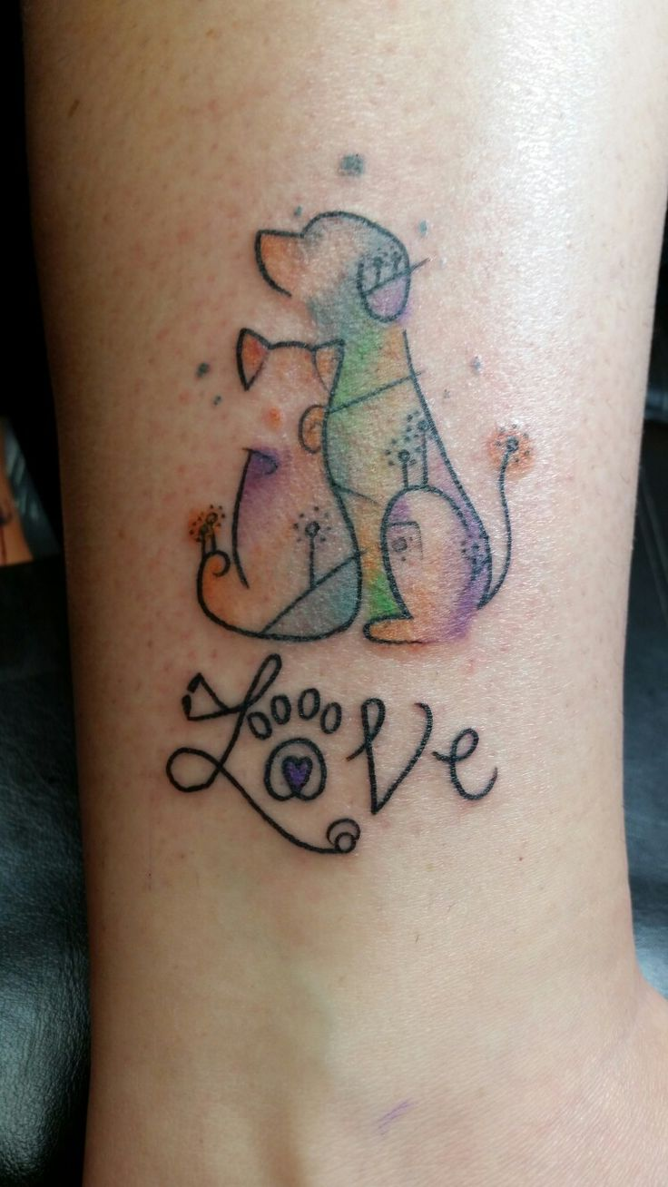 Tattoos tattoo ideas on pinterest rn - My Newest Tattoo Representing My Love For Animals And Becoming A Veterinary Technician After Two
