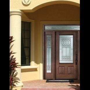 3 4 Door With 2 Sidelights And Transom Odl Paris Doorglass