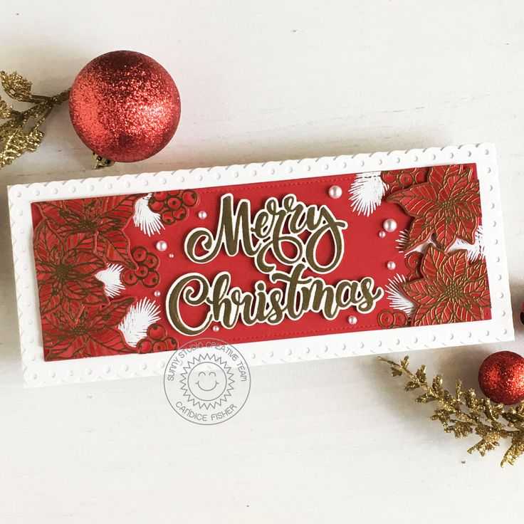 Sunny Studio stampsmerry christmas! in 2020 Christmas
