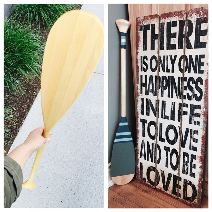 Yay! Really excited this one turned out well. I bought the paddle from Sail for $20 and painted it. Will mount it on the wall in our new place!