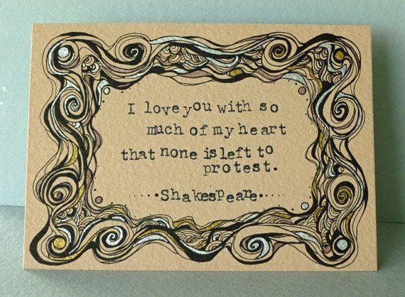 Original Illustration, Shakespeare Quote