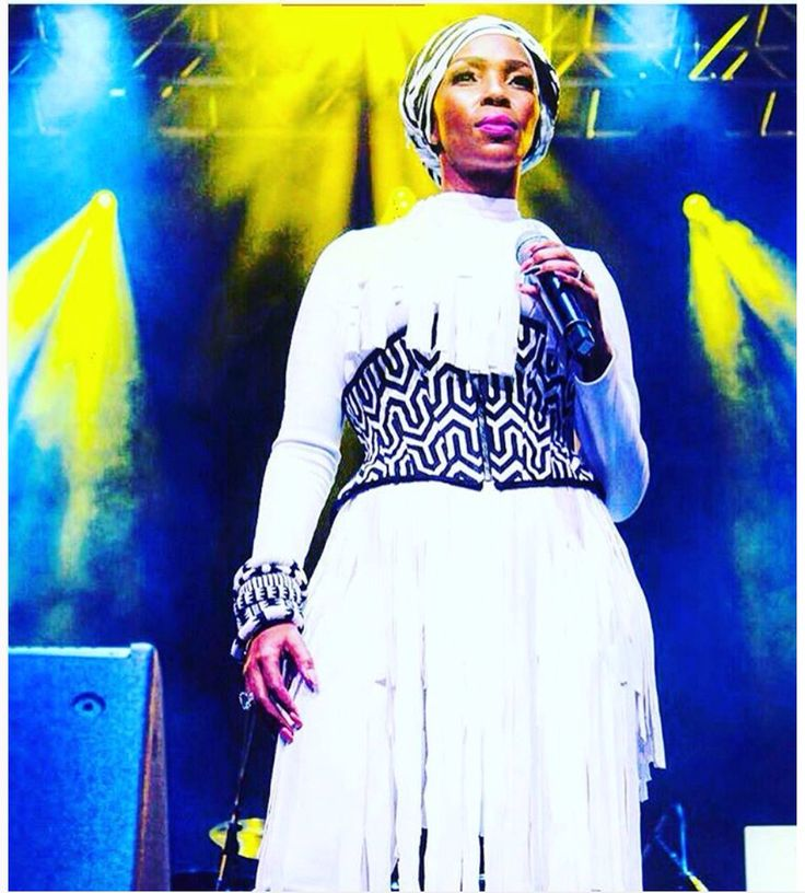 Nhlanhla Nciza wearing Arwen Garmentry Cincher onstage at Carnival City