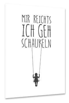 artboxONE Poster 30×20 cm Typografie Schaukeln sch…