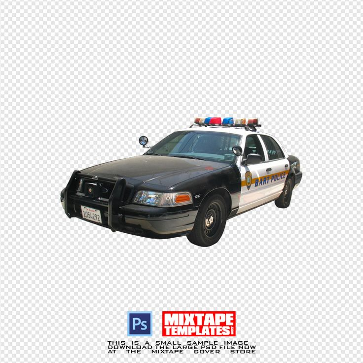 SALE! Cop Car precut stock image #MixtapePSD - $1.99 Instant download at the #MixtapeCoverStore now.