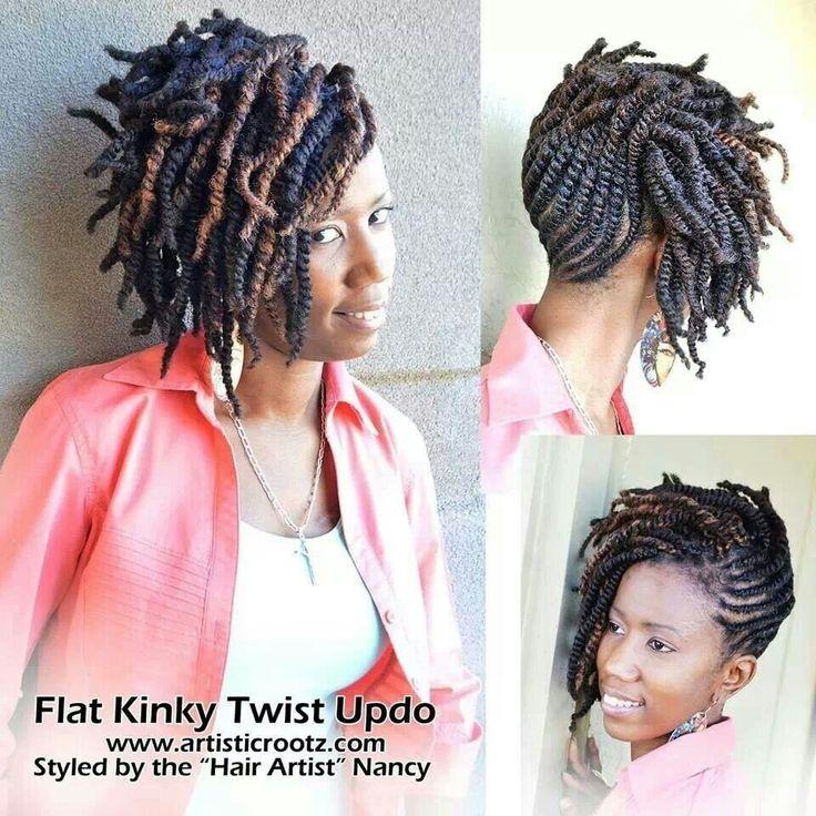 Flat Kinky Twist Updo