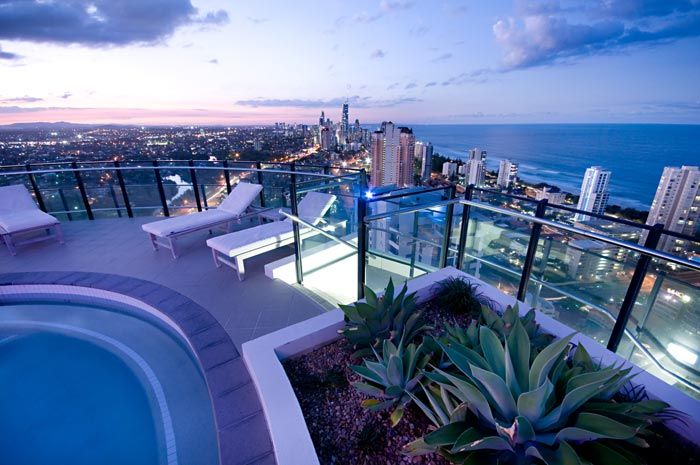 The sky pool at The Wave, Broadbeach - what a view!