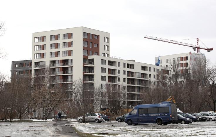 Budowa Apartamentów przy Krasińskiego, luty 2013 r. Więcej informacji na http://www.przykrasinskiego.pl/.