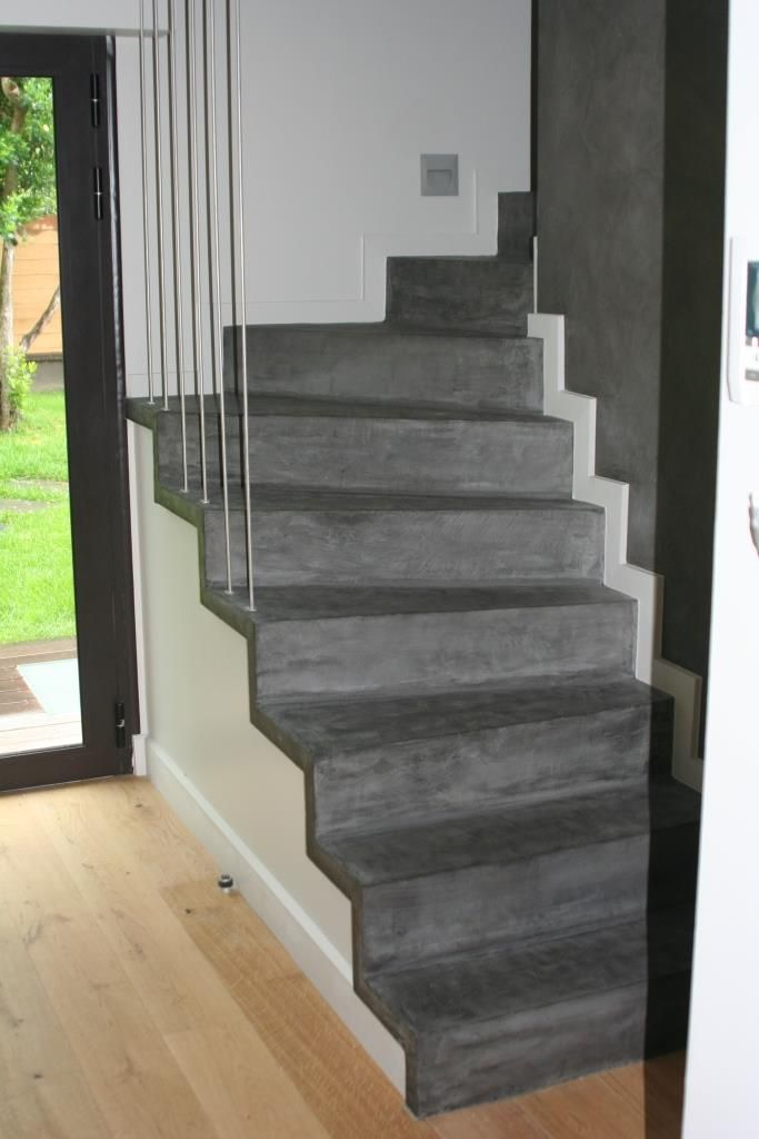 Revetement En Beton Cire A Izon En Gironde Home Decor Stairs Home