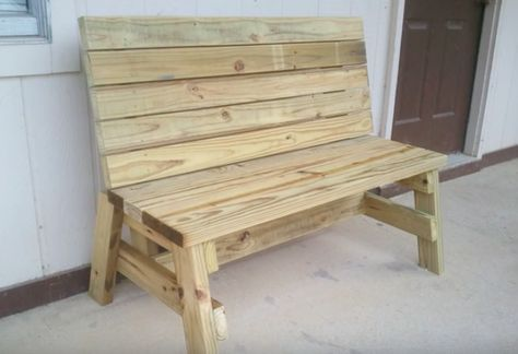 This easy-to-build sitting bench can be assembled in just a couple hours with basic tools.