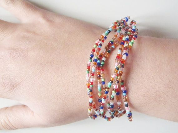 beads bracelet necklace extra long boho multistrand hippie multicolored beaded necklace glass bead plastic flower bohemian lasoffittadiste