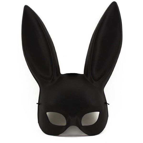 Adorox Sexy Bondage Masquerade Bunny Rabbit Mask Adult Halloween... ($14) ❤ liked on Polyvore featuring costumes, masquerade costumes, sexy black costume, adult costume, bunny halloween costume and masquerade halloween costumes