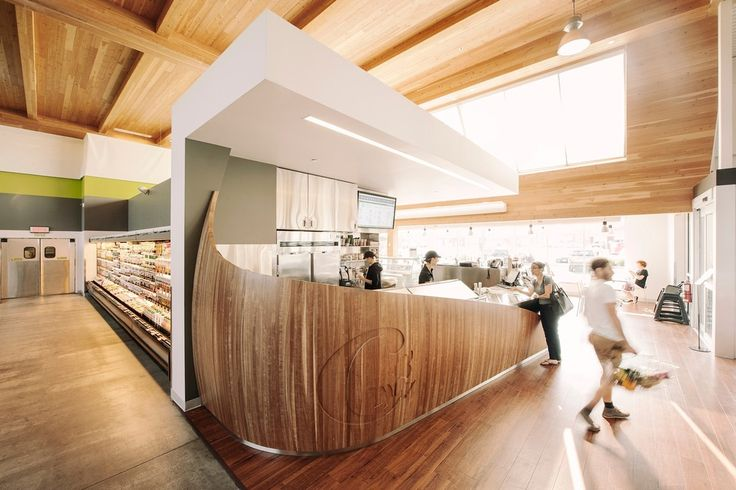 Elegant Timber Concession Stand Promoting Healthy Raw Vegan Meals 2