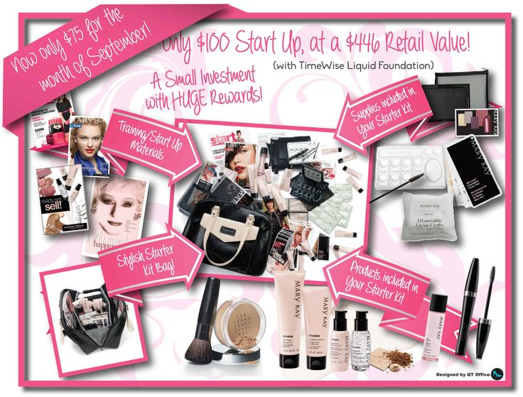 Mary Kay starter kit only $75!! September only.
