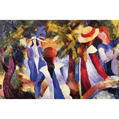 Buyenlarge 'Girls in the Open by August' by August Macke Painting Print