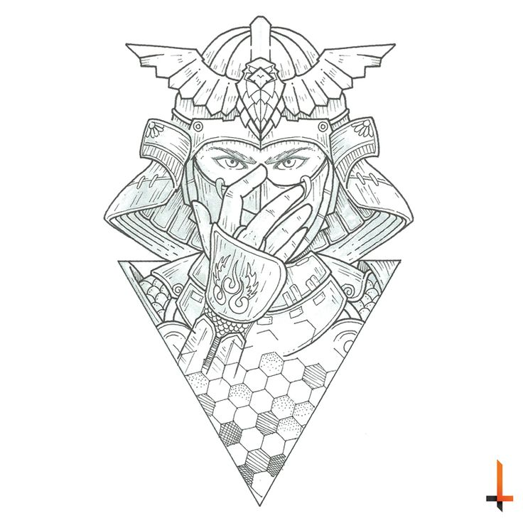 In the name of the samurai #tattoo #tattoosketch #sketch #samurai #geometric…
