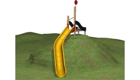 Hangrutsche (Podesthöhe 217 cm) - TR0004P - Rutschen - Spielplatzgeräte - KOMPAN