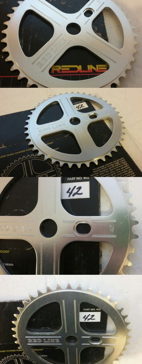 Chainrings and BMX Sprockets 177811: Vintage Nos 1980S Redline Bubble Font 401 Flight 42T Old School Bmx Sprocket 24 BUY IT NOW ONLY: $399.99
