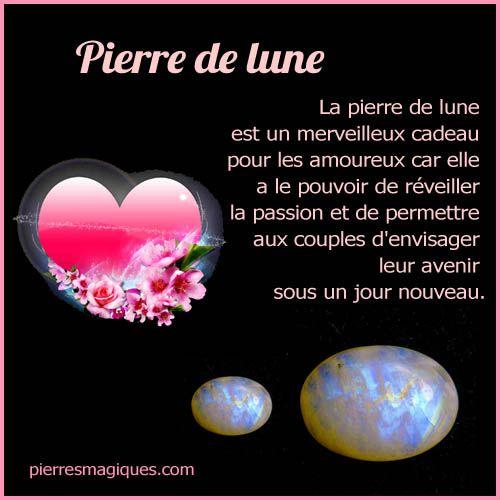 La pierre de lune est un merveilleux cadeau pour les amoureux car elle a le pouvoir de réveiller la passion