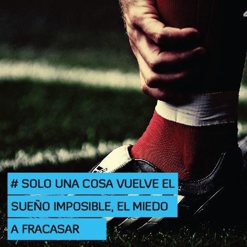 Solo una cosa vuelve el sueño imposible, el miedo a fracasar  http://www.altorendimiento.com/cursos/curso-preparacion-fisica-futbol