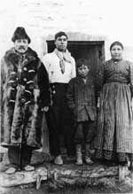 The Mountain Metis. Ewan  Madeline (nee Findlay) Moberly. The older boy is Lactap Moberly, and the young boy is Joe Moberly. Madeline was Isadore Findlay's sister.