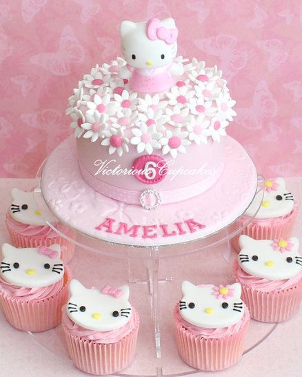 Hello Kitty - by VictoriousCupcakes @ CakesDecor.com - cake decorating website