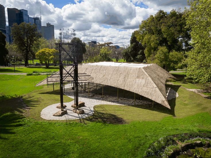 MPavilion 2016 MPavilion is an event hub, a meeting place, a temporary landmark, a spontaneous detour and a starting point. From October 2016 to February 2017 we're collaborating with thinkers, doers and makers to bring you a free four–month program of talks, workshops, performances and installations. Read on to learn more about MPavilion 2016 designed by Bijoy Jain of Studio Mumbai, and browse our events. Stay tuned to our Facebook, Twitter and Instagram for last-minute programming updates…
