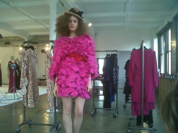 Pic from Joe Zee - heart dress at Sonia Rykiel. I want this in white with a blue belt for my wedding dress. At my wedding to c.1975 Harrison Ford.