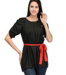 Buy Black plain tops top online