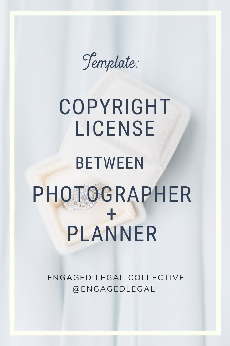 Copyright License To Use Photos Photographer To Event