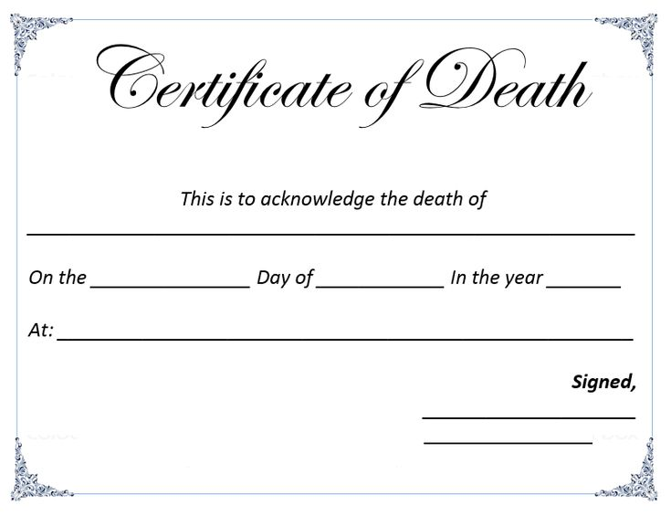 ... Death Certificate Template Anatomy Pinterest Death   First Aid  Certificate Template ...  First Aid Certificate Template