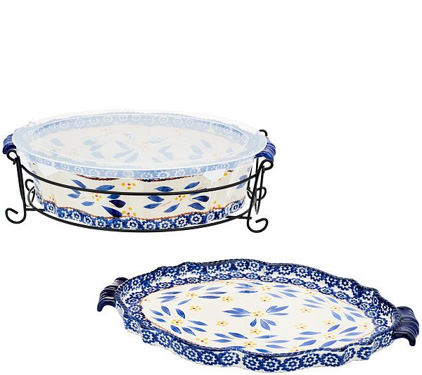 Bake, serve, and store in this baker set boasting the bold beauty of the Old World pattern. Page 1 QVC.com