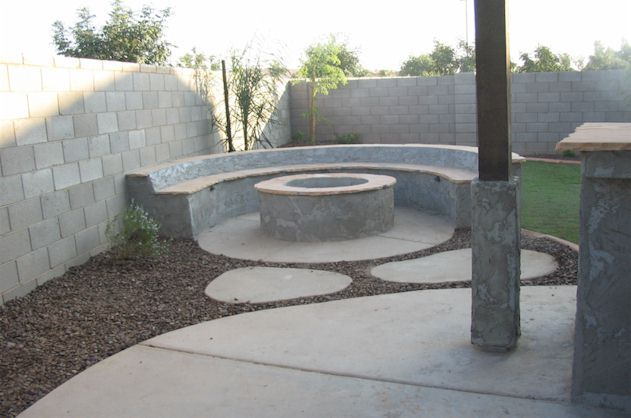 AZ landscape built-in Barbecue,fire pit, bbq, fireplace.