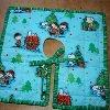 Mini Peanuts Christmas Tree Skirt | FaveQuilts.com