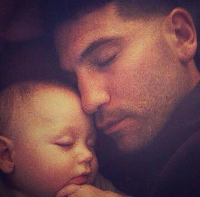 Jon Bernthal (recently cast as The Punisher - woot!) and his precious baby.