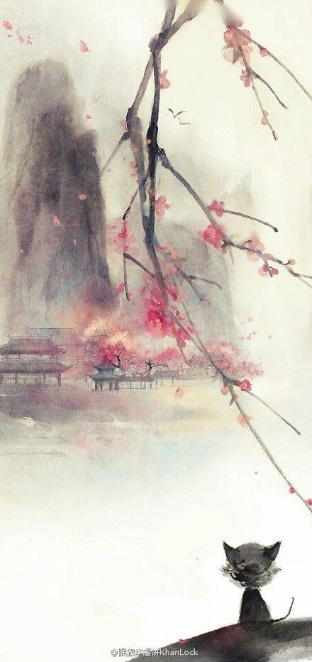 Asian watercolor prints 5x7